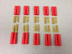 Fusion 4.0mm Gold 10prs w 5 x polarity housing