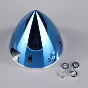 102mm Chrome Blue Spinner (with Aluminium Back Plate)