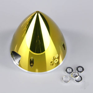 102mm Chrome Yellow Spinner (with Aluminium Back Plate)