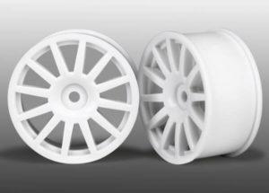 LaTrax Wheels, 12-Spoke (White) (2)