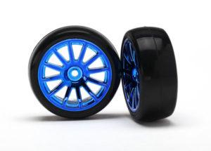 LaTrax 12-Sp Blue Wheels, Slick Tires