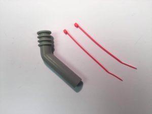 Logic Silicone Exhaust Deflector   7mm  45 Deg