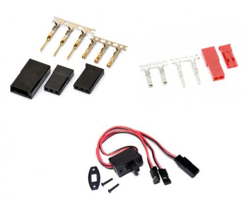 JR, Futaba & BEC Connectors & Switches