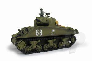Henglong 1:16 US M4A3 Sherman (2.4GHz+Shooter+Smoke+Sound)