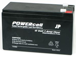 12V 7AMP POWERCELL GEL BATTERY