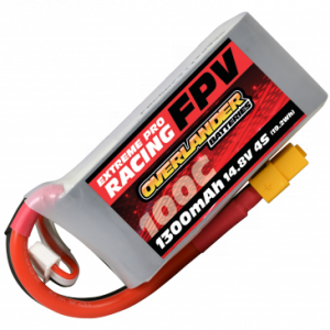 1300mAh 4S 14.8v 100C FPV LiPo Battery with XT60 Connector - High Discharge