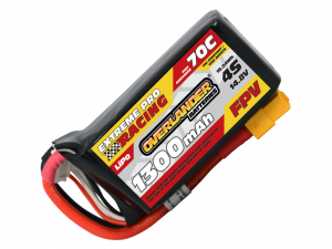 Overlander 1300mAh 4S 14.8v 70C FPV Lipo Battery with XT60 Connector High Discharge