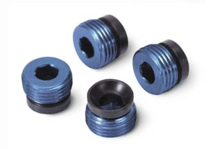 Traxxas Aluminum caps, pivot ball (blue-anodized) (4)