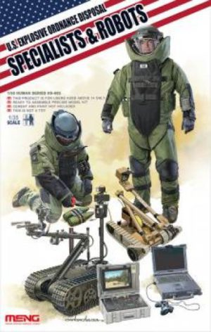 Meng 1:35 US Explosive Ordnance Disposal Specialists and Robots