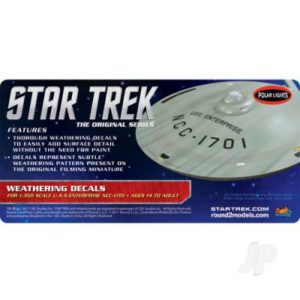 1:350 Star Trek U.S.S Enterprise Weathering
