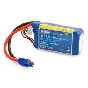 E-Flite 1350mAh 3S 11.1volt 30C LiPo EC3 Connector (blade 300x) - O-EFLB13503S30