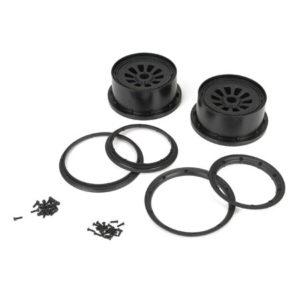 Losi 5ive-T Black Wheel & Beadlock Set (2) - LOSB7034