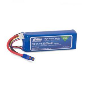 E-Flite 2200mah 3S 11.1volt 30C LiPo 13AWG with EC3 Connector