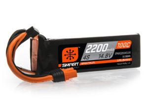2200mAh 4S 14.8V 100C Smart LiPo Battery; IC3
