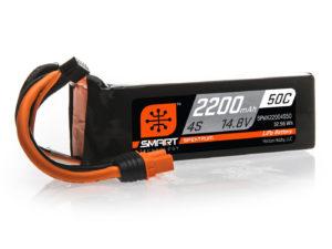 2200mAh 4S 14.8V 50C Smart LiPo Battery; IC3