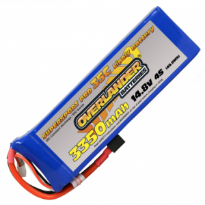 3350mAh 4S 14.8v 35C LiPo Battery - Overlander Supersport Pro