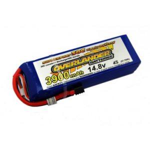 3900mAh 4S 14.8v 35C LiPo Battery - Overlander Supersport Pro