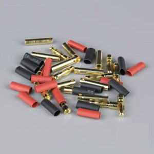 4.0mm Gold Connector Pairs including Heat Shrink (10pcs)