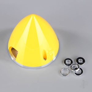 45mm Yellow Spinner (with Aluminium Back Plate)