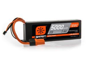 5000mAh 2S 7.4V 100C Smart LiPo Hardcase; IC5