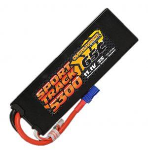 5300mAh 3S 11.1v 65C LiPo Battery in Hard Case - Overlander Sport Track with EC5