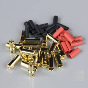 5.5mm Gold Connector Pairs including Heat Shrink (10pcs)