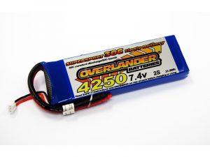 Overlander 4250mAh 2S 7.4v 30C LiPo Battery