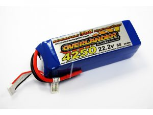 Overlander 4250mAh 6S 22.2v 30C LiPo Battery