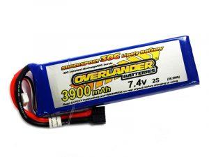Overlander 3900mAh 2S 7.4v 30C LiPo Battery