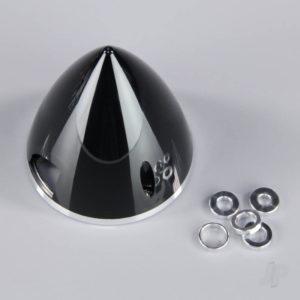 57mm Black Spinner (with Aluminium Back Plate)