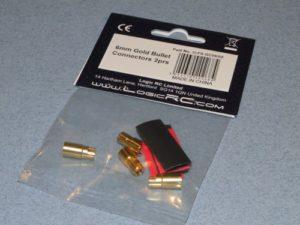 6mm Gold Bullet Connectors 2prs