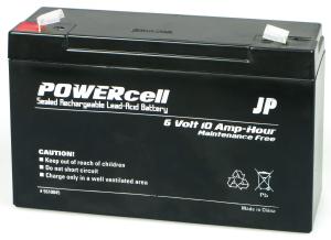 6V 10AMP POWERCELL GEL BATTERY