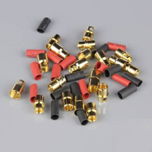 8.0mm Gold Connector Pairs including Heat Shrink (10pcs)