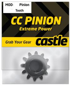 Castle CC Pinion (Aluminum) 16t - 32 Pitch 5mm shaft
