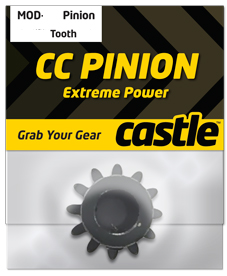 Castle CC Pinion 16 Tooth - MOD1.5 8mm shaft use with CMIR075