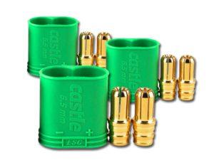 Castle Polarized Bullet Conn Male, 6.5mm Pk3