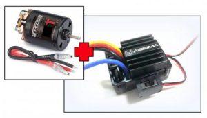 "Absima Electric Motor ""Thrust B-Spec"" 19T + 1:10 Brushed ESC 40A"