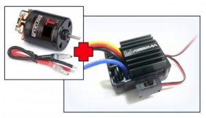 """Absima Electric Motor """"Thrust B-Spec"""" 55T + 1:10 Brushed ESC for Crawler & Boat, 40A"""