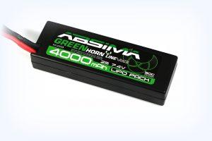Absima Greenhorn LiPo 7.4V-50C 4000mah Hardcase (T-Plug) VER2
