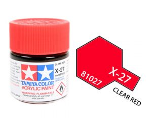ACRYLIC MINI X-27 CLEAR RED