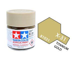 ACRYLIC MINI X-31 TITAN GOLD