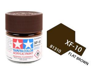 ACRYLIC MINI XF-10 FLAT BROWN