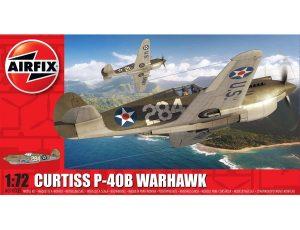 AIRFIX 1/72 CURTISS P-40B WARHAWK MODEL KIT