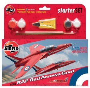 Airfix Airfix RAF Red Arrows Gnat Starter Set 1:72