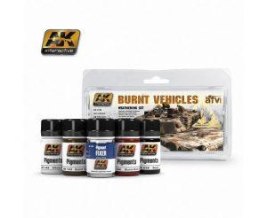 AK Interactive - Burnt Vehicles Weathering Set AK04120