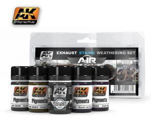 AK Interactive - Exhaust Stains Weathering Set # 2037
