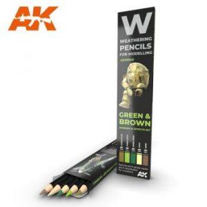 AK Interactive Pencils Set - Green and Brown Camo