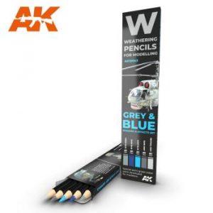 AK Interactive Pencils Set - Grey and Blue Camo