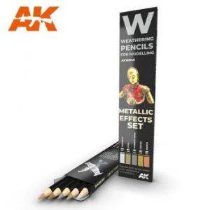 AK Interactive Pencils Set - Metallics