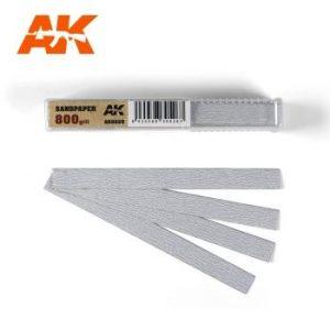 AK Interactive Sandpaper - Dry, 800 grit x 50 Units